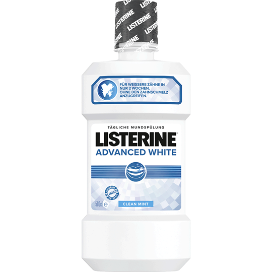 Listerine Advanced White Mouthwash Clean Mint Flavour