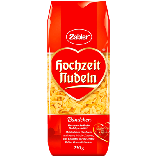 Zabler Hochzeit Nudeln Bändchen