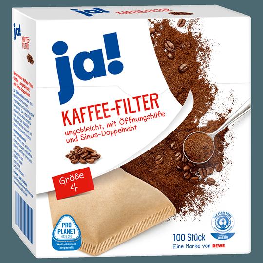 ja! Kaffee-Filter Größe 4, 100 Stück